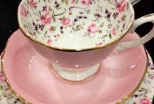 floral cottage cups & saucers