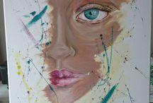 InaUniqe-Creatiw (Målning) / Mina egna målningar @inauniqe www.creatiw.se