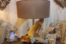 Lámparas artesanales con maderas del mar / Lámparas hechas con madera del mar