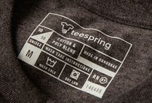 Screen print tshirt tags and packaging