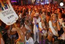Βραζιλία:Βραζιλιάνες, Διαμαρτυρονται λίγο πριν την έναρξη του καρναβαλιού του Ρίο