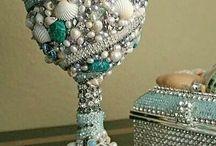 Goblets dinner table