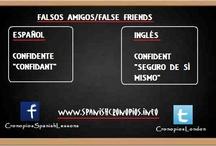 Falsos amigos/False Friends / Falsos amigos español-inglés.