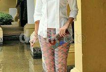 Setelan celana panjang batik