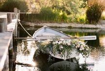 Wedding boat decoration