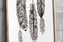 Feather designs.