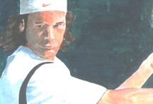 "Carlos Moya (ESP) ""Detalles"" / Detalles de la pintura original. Ver Muro Tennis."