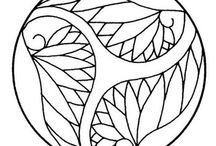 Line art for embroidery