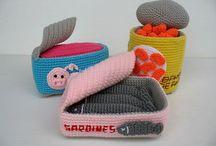 crochet canned food