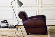 Гостиная: кресло + торшер