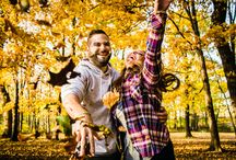 Fall Engagement Sessions / Photographs from fall engagement sessions