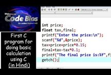 Basic C Programming with Problems in Hindi