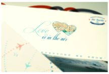 Love is in the Air / wedding invitation