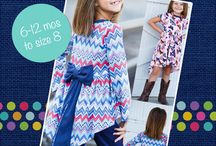 Girls Dresses with Sleeves PDF Sewing Patterns