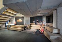 Atrium-public spaces / by Krohn Interiørarkitekter