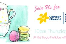 Biggest Morning Tea / On the 28th of May Hugo Halliday will be hosting a Biggest Morning Tea to raise money for the Cancer Council. Everyone is welcome, all you need to do is RSVP: http://www.hugohalliday.com/what-are-you-doing-on-may-28/  Everyone that RSVP's and has a Pinterest account will be able to add morning tea themed pins to this board to help us plan our event! Do you have a favourite cupcake? Maybe macaroons are where its at? Whatever your inspiration share it with us so we can make this event a success!