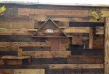 mis proyectos con reciclado / muebles paredes y jardines de madera reciclada