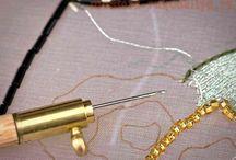 Broderie Lunéville - Tambour stitching