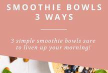 Smoothie Bowls / The BEST recipes for smoothie bowls! #smoothie #bowl #acai #frozen #dessert #homemade #sweets #recipe #rezepte #lecker #fruit #breakfast #brunch #healthy #vegan #vegetarian