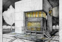 Rendering / Interior architecture and architecture by pen/cad