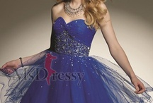 short prom dress in colors