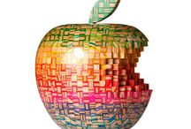 Apples / I am an Apple computer fan. All computers in my home are Macs. My first computer was the Tangerine iMac. I still have it and it still works. Haven't been able to part with it. Now using Mac OSX Lion. Love Apples of all kinds, so this a board of edible apples and Mac apples.  / by Portable Graffiti