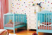 Iker babaszoba ötletek - Twin nursery room ideas / by Ikrekkel az élet...