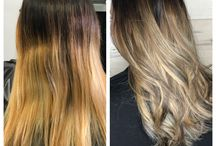 Hair color correction / Before and after color correction