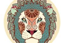 mandala tattoo lion leo