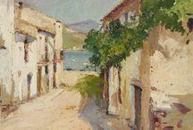 Costa Brava. Girona. / Eliseo Meifrén Roig. Pinturas al óleo de la Costa Brava.