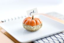Autumn Decor & Tablescapes / Thanksgiving and other fall-inspired table and room decor