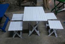 katlanir piknik masası ve tabureleri