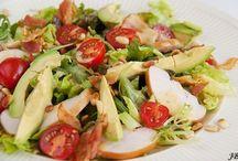 Avocado gerookte kip salade