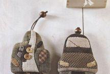 Llaveros patchwork, keyrings