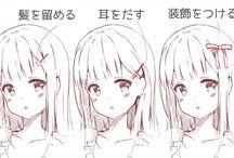 髪型イラスト_女