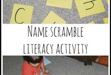 PreK - Name Activities