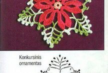 fiori e foglie crochet