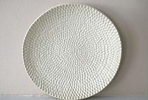 textured stoneware