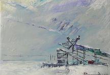 Svalbard / Svalbard, painting, etching