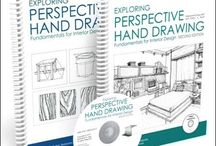 Perspective Drawing Book / Step-by-step instructional interior drawing perspective book.
