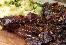 Braided skirt steak