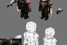 low poly references for games