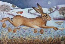 The Fox And The Hare / I like both these animals, though never the twain should meet! / by ViolaRose