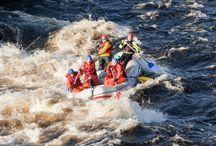 Rafting / Riverrafting in Muonio, (Äijäkoski, Saarikoski)