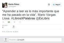 #LibrosXpalabras / Aquí os dejamos las participaciones de nuestros tuiteros en el concurso #LibrosXpalabras ¿qué os parecen? ¿Participáis?