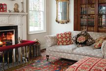 patterned carpet living room