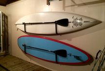 Garage Board Storage and Racks / Need to store your surfboard, paddleboard (SUP), wakeboard, snowboard, skis, kayaks, bikes, skateboards, or other gear in your garage, shed, basement or storage space?