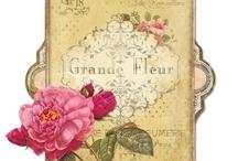 Flower power / Grafiki do decoupage z motywami kwiatowymi