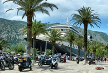 Queen Victoria cruise ship / Port of Kotor in Montenegro/ 2016-07-05 / American-British Cruise Company ( Miami, Florida) length: 294m, height:62.5m, capacity: 2014, crew:900
