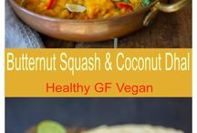 Butternut squash and coconut dhal